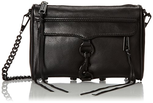 Rebecca Minkoff Mini MAC Convertible Cross-Body Handbag,Black,One Size (Minkoff Rebecca Mini Mac)