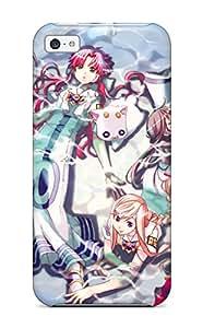 Iphone High Quality Tpu Case/ Women Blueet Pinksmiling Lying Down Anime Purple Bending Over MxrUJiP5099tncFh Case Cover For Iphone 5c