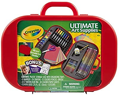 Crayola Ultimate Art Case with Easel (Color May Vary), (04-5674) | Computers
