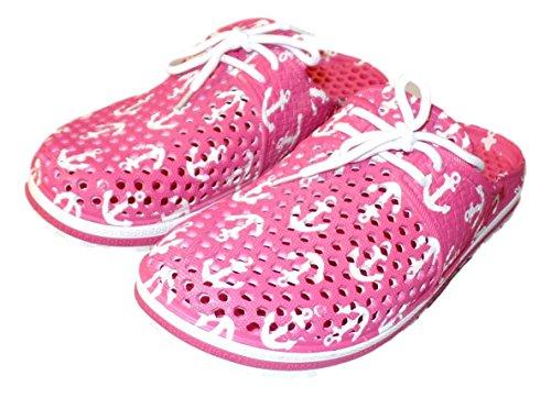 and Women's Anchor Pink Girl's Clogs Air Walk Print Anchor Oqdx8wq6