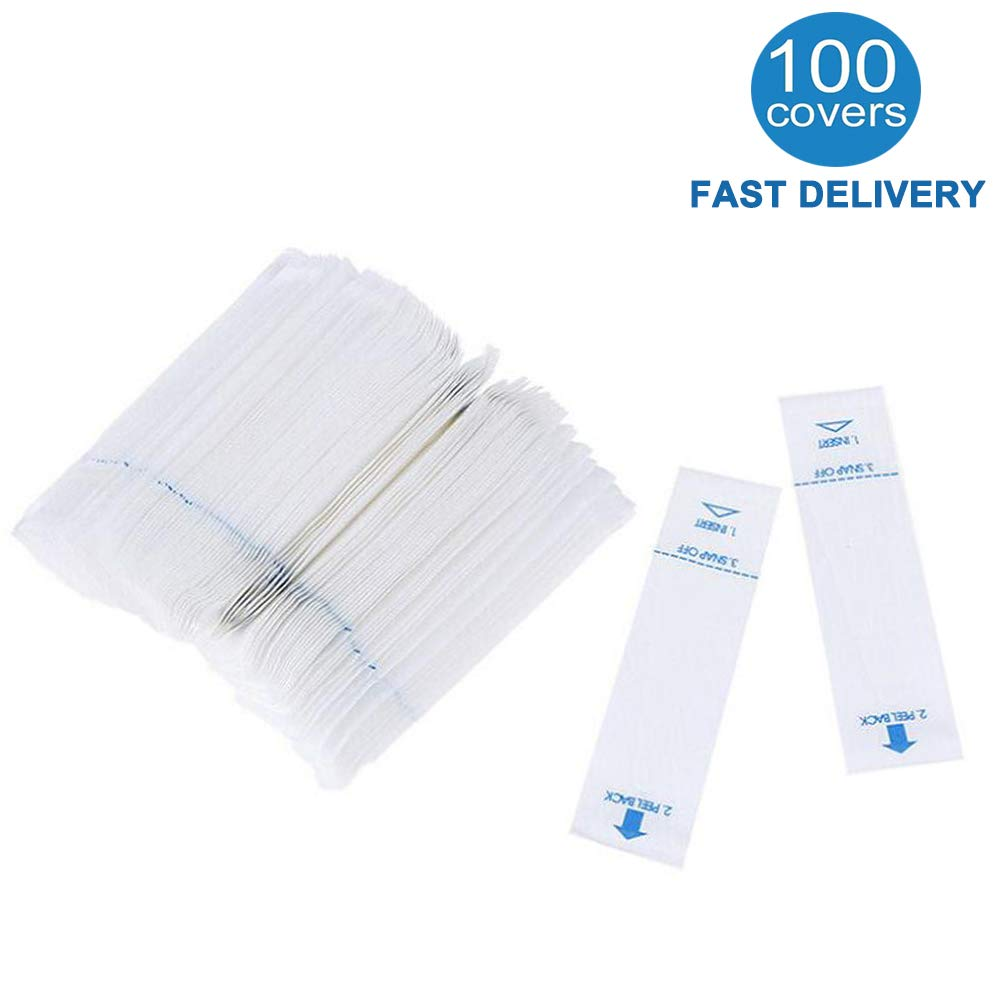 100 Pack Digital Thermometer Probe Covers, Oral Thermometer Covers - Disposable Probe Covers für Digital Thermometers, Rectal Thermometer Sleeves, Safe und Sanitary