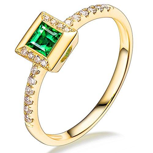 0.50 Carats Emerald Ring - 8