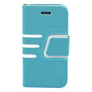 Tres caja de cuero junta horizontal para el iPhone 4/4S (colores surtidos) , Azul