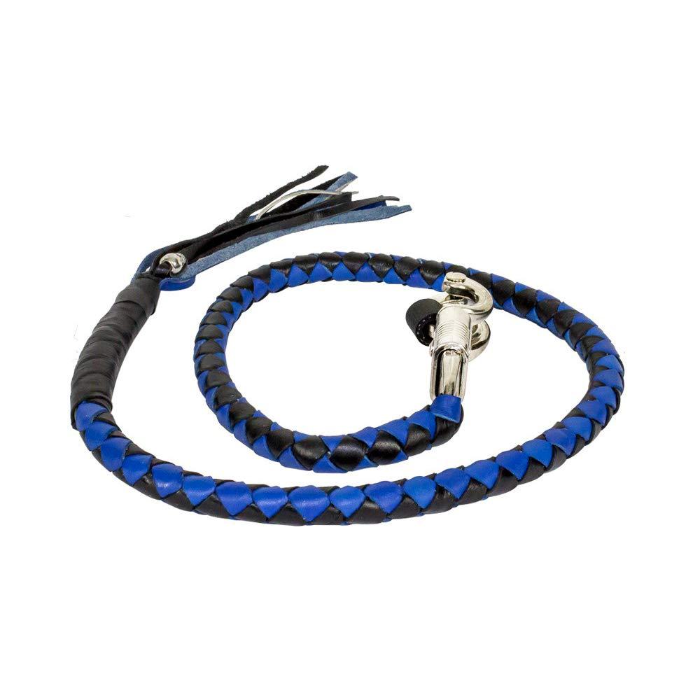 Celcube Black & Blue Get Back Whip for Motorcycles
