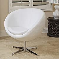 Noble House Daniel Modern Round Back Chair in White