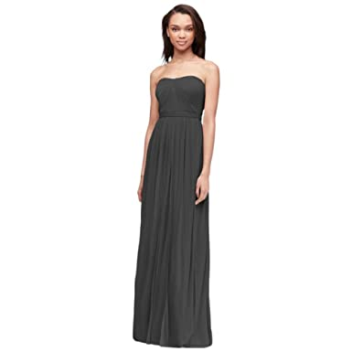 aabc6bbbd623 David s Bridal Versa Convertible Mesh Bridesmaid Dress Style F15782 ...