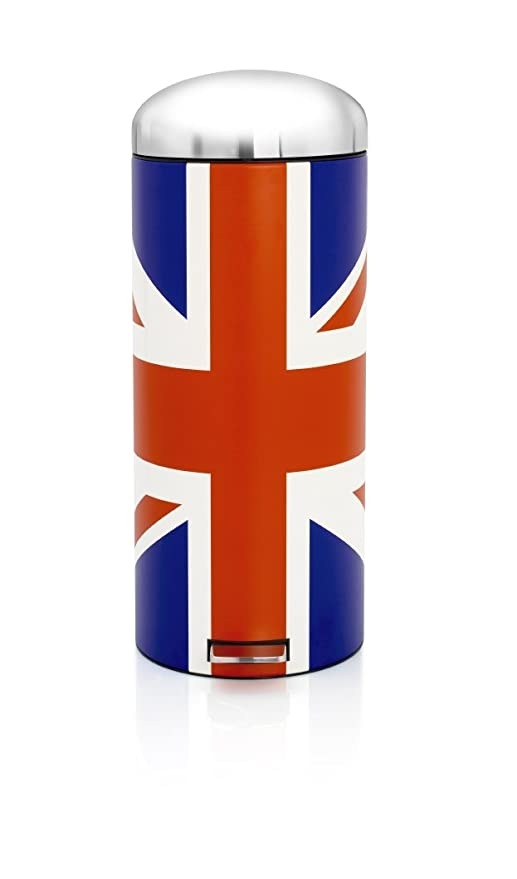 Amazon.com: Brabantia 480362 Union Jack Pedal Bin, 30-liter ...