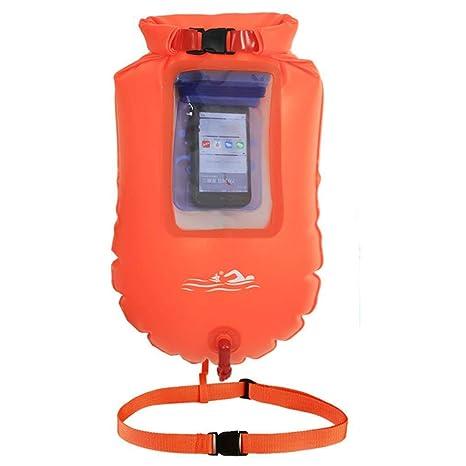 HUWAI Swim Buoy - Flotador de Baño Flotante y Drybag para Nadadores y triatletas de Aguas