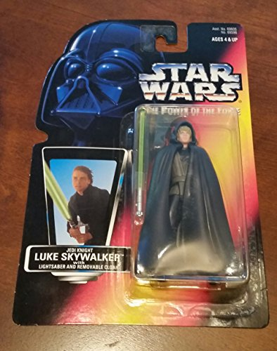 (Star Wars Power of the Force (Brown Vest) Jedi Knight Luke Skywalker Red Card Action Figure By Kenner)