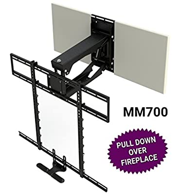 """MantelMount MM700 Pro Series Above Fireplace Pull Down TV Mount for 45""""-90"""" TVs Over Mantel"""