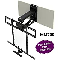 MantelMount MM700 Pro Series Above Fireplace Pull Down TV Mount For 45-90 TVs Over Mantel