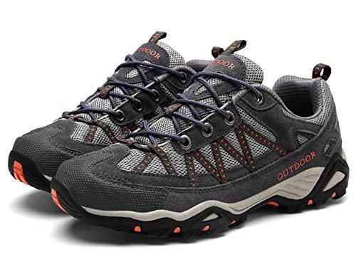 Pour Orange Chaussures De Sneakers Promenades Basses Les Trekking Femme Outdoor Gris Et Randonnée Gnediae Hommes H6316 SZwxfIUUq