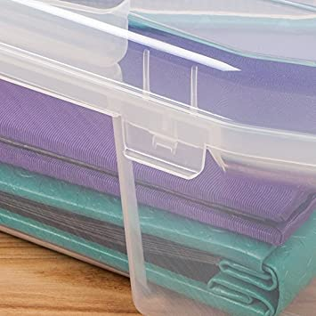 8 x 8 - Set of 6, Clear IRIS Portable Project Case for