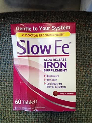 SLOW FE Iron Supplement 60 Tablets by Slow Fe