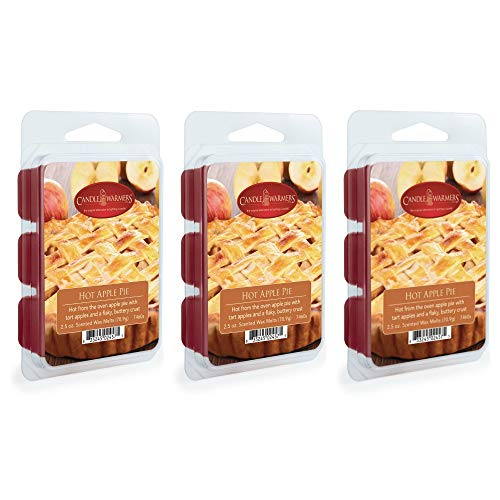 CANDLE WARMERS ETC. 2.5 oz Wax Melt 3-Pack, Hot Apple Pie ()