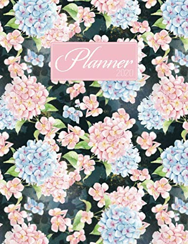 Planner 2020: Budget Planner With Calendar October 2019-December 2020 | Yealy Summary | Undated Monthly Budgets | Wide Rule Lined Pages | Floral Hydrangeas
