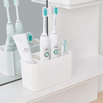 Soporte para cepillo de dientes eléctrico, soporte de plástico para baño, cepillo de dientes eléctrico, caja de herramientas desmontable, suministros de ...