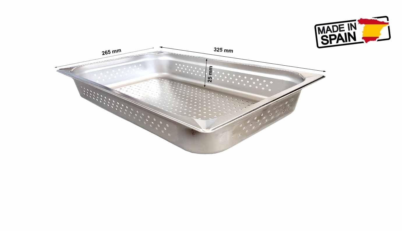Fagor gnpk 1225 1/2 recipientes Gastronorm perforadas/perforado Capacidad 1,6 litros (Acero Inoxidable, Apto para Lavavajillas, Gastronorm 1/2, ...
