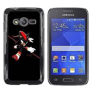 Caucho caso de Shell duro de la cubierta de accesorios de protección BY RAYDREAMMM - Samsung Galaxy Ace 4 G313 SM-G313F - Red Hedgehog