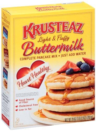 Krusteaz Light & Fluffy Heart Healthy Buttermilk, Pancake Mix, 28 Ounce (Pack of 12)