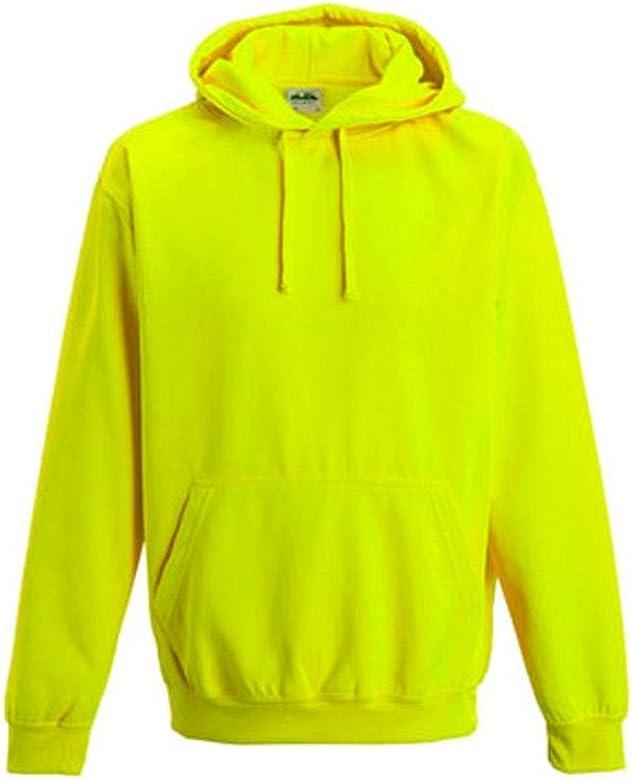 Coole-Fun-T-Shirts Neon Sweatshirt Mit Kapuze Floureszierend Sudadera, Hombre, Amarillo, S: Amazon.es: Ropa y accesorios