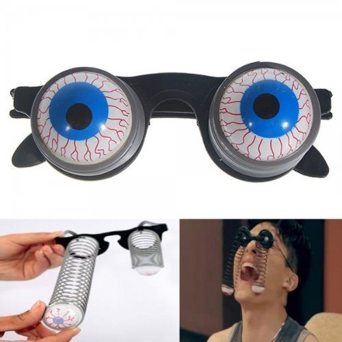[Scary Horror Shock Pop Eyes Eyeball-Dropping Glasses by Preciastore] (Costume Eyeball Glasses)