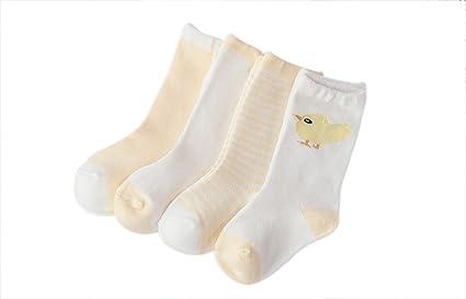 Lubier 4 Pares Calcetines De Los Niños De Bebé Cálido Suave Calcetines Super Lindo Altos Casual