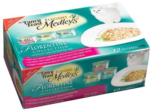 Fancy Feast Elegant Medleys for Cats, Florentine Collection with Garden Greens, 12-Count (Pack of 2) by Fancy Feast [Pet Supplies]