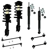 Detroit Axle - Both (2) New Front Complete Quick Strut Assembly Set + Both (2) Rear Shocks + All (4) Front and Rear Sway Bar Links for Malibu - without RPO Code FE5 Performance Suspension