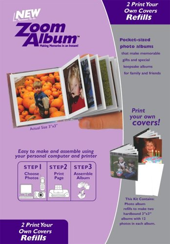 Zoom Album Two 3×3″ Photo Covers Refill