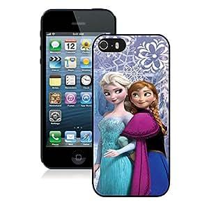 Frozen Elsa And Anna Black Individual Custom iPhone 5 5S Case