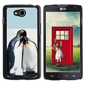 TopCaseStore / la caja del caucho duro de la cubierta de protección de la piel - Cute Penguin Friends - LG OPTIMUS L90 / D415