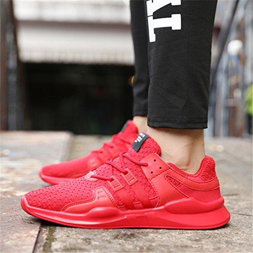 Deportes para Correr Gimnasio Rojo Interior de Running y UBFEN Zapatillas Deportivas D Padel Exterior Hombres Sneakers Casual de Fitness Zapatos pxIvqwz