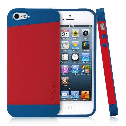 GGMM iPh01407 iFreedom Schutzhülle für Apple iPhone 5/5S blau/rot