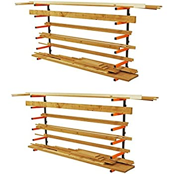 Portamate PBR-001 Wood Storage 110 lb Wall Mount Lumber Organizer System 2-Pack  sc 1 st  Amazon.com & Lumber Rack Set - Shelving Hardware - Amazon.com