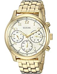 GUESS Womens Stainless Steel Multifunction Casual Watch, Color: Gold-Tone (Model: U1018L2)