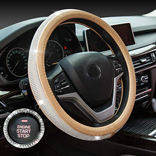 Chevy Gold Cover - New Diamond Leather Steering Wheel