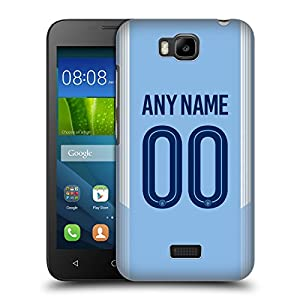Custom Customized Personalized Manchester City Man City FC Home 2017/18 Logo & Kit Hard Back Case for Huawei Y541