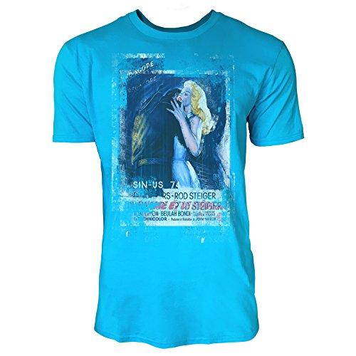 SINUS ART® The Unholy Wife Herren T-Shirts in Karibik blau Cooles Fun Shirt mit tollen Aufdruck