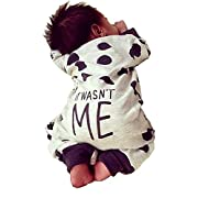 Oklady Newborn Baby Boy Girl Warm Long Sleeve Dots Romper Bodysuit Jumpsuit Outfits Clothes(0-6 Months)
