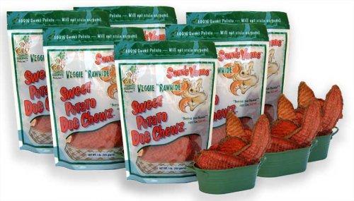 Sweet Potato Dog Chewz – 6 Pack – Value Pack Veggie Rawhide, My Pet Supplies