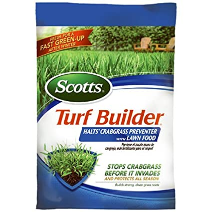 Scotts Turf Builder Halts Crabgrass Preventer with Lawn Food, 5,000-Sq Ft ScotchBlue 32367F