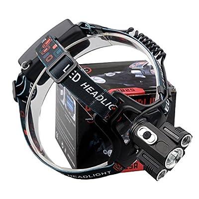 Willsa 15000Lm LED Headlamp Rechargeable Cree 3x T6 Headlight Head Light 18650