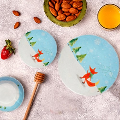 Salad Plate /& Soup Bowl | Shatter-Proof and Chip-Resistant Melamine Plates and Bowls Winter Fox Collection Dinner Plate Melange 12-Piece 100/% Melamine Dinnerware Set 4 Each