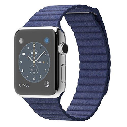 Apple 42MM LargeWatch Stainless Steel Case - Steel/Bright Blue Loop (Certified Refurbished) by Apple