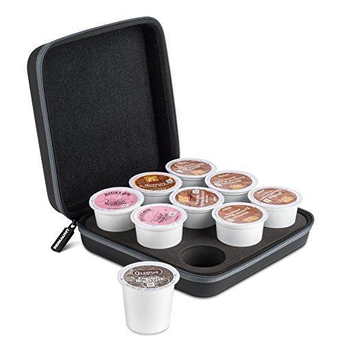 Soporte para cápsulas de café compatible con K-Cup, accesorio para cafetera portátil de acampada, funda de transporte de...