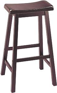 "ACME Gaucho Bar Stool (Set-2) - 0 - Walnut - 29"" Seat Height"