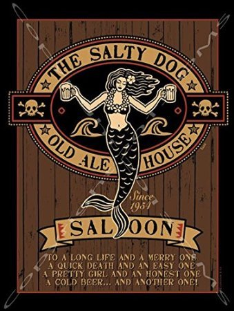 Salty-Dog-Decorative-Metal-Sign