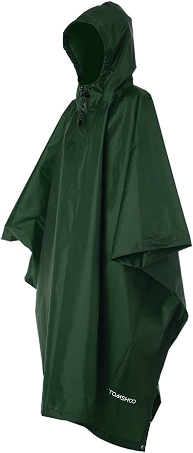 Raincoat Waterproof Women Awning From the Rain Poncho Solid Colour UK Seller