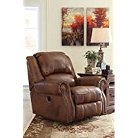 Ashley Furniture Signature Design - Walworth Recliner Chair - Manual Reclining - Auburn Brown